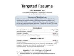 Target Resume Samples 15 20 Targeted Process