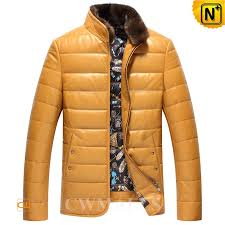 cwmalls mens down jackets with mink fur collar cw846053