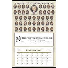 12 Months 2020 Calendar Presidents Hanger 12 Month Calendar 2020
