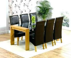glass oak dining table oak and glass table glass and oak dining table set solid oak