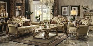 Traditional Sofa Sets Living Room Vendome Bonded Leather Sofa Collection Acme Furniture Bedroom