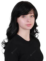 long hair black human hair wigs