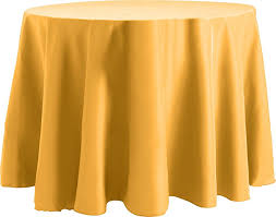90 inch round tablecloth flame ant basic polyester gold b01n49k9nt