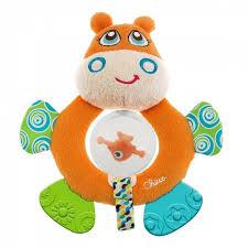 <b>Игрушка</b>-<b>погремушка Chicco</b> Бегемот Hippo 58901 - купить в Москве