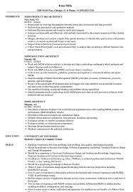 Architecture Resume Examples MDM Architect Resume Samples Velvet Jobs 31