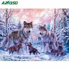 <b>AZQSD Diamond</b> Painting Cross Stitch <b>Animal</b> Picture of ...