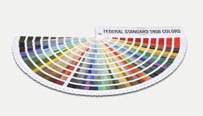 Fed Std 595b Color Chart Federal Standard Color Guide Testing Inspection