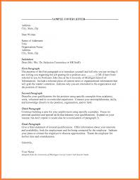 Cover Letter Related To How Address Sample Opening Paragraph It