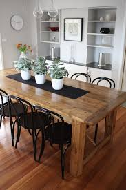 industrial kitchen table furniture. Appealing Industrial Dining Room With Table And Black Chairs Plus Wooden Flooring Also White Shelves Kitchen Furniture R