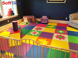 colorful kids playroom using softtiles flowers and erfly cut foam mats d153