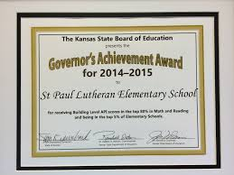 achievement awards for elementary students academics st paul lutheran school