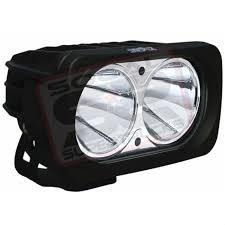 black single optimus dual prime led light pod by vision x lighting