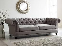Cara Upholstered Sofa  Living It UpFabric Chesterfield Sofas Uk