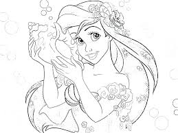 Ariel Disney Princess Coloring Pages Dress Games Mermaid Page ...