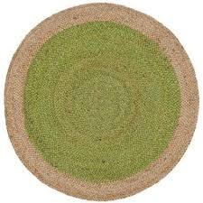 natural fiber green beige 3 ft x 3 ft round area rug