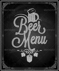 Chalk Board Menu Board Chalkboard Frame Beer Menu Food Objects Framed