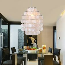 modern capiz shell chandelier
