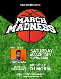 March Madness Flyer March Madness Flyer Template Postermywall