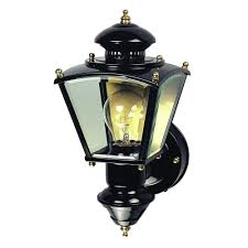 heath zenith 150 black charleston coach lantern with clear glass hz 4150 bk the home depot
