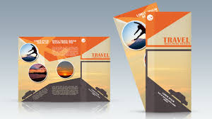 Travel Brochure Cover Design Photoshop Tutorial Trifold Travel Brochure Design