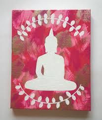 diy painting canvas decor hippie bohemian buddha inspired acrylic canvas painti on bedrooms easy wall decor