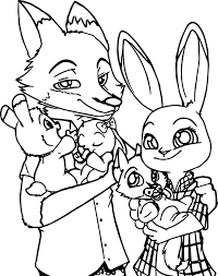awesome cartoon fox coloring pages collection 9 g cartoon zootopia family coloring pages