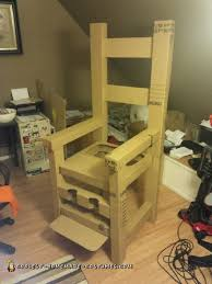 chair costume. electric chair optical illusion costume
