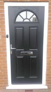 4 panel sunburst posite front door in white with oak frame posite entrance doors posite front doors front doors and doors