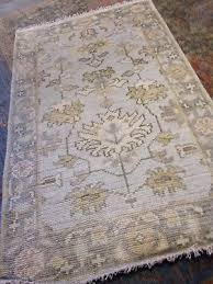 turkish oushak area rug 3 x 5 wool hand knotted new woven a light gray