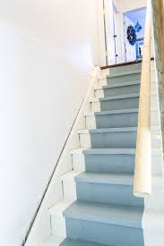 Painted Wood Stairs How To Paint Basement Stairs The Weathered Fox