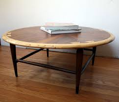 lane acclaim round coffee table manly vintage