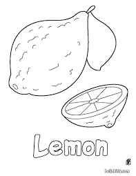 Lemon Coloring Pages Free Online Printable