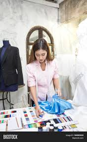 Fashion Designer Part Time Job Young Asian Woman Image Photo Free Trial Bigstock