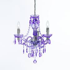 purple crystal chandelier with silver steel candle lamps placed on the small purple tray also feat semi oval crystal hanging ornaments