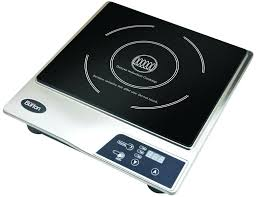 new black professional portable induction counter top burner 2 aroma