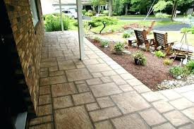 pavers over concrete patio brick over concrete patio over concrete porch concrete patio expanded with flagstones pavers over concrete patio