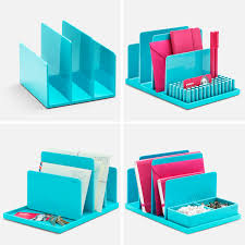 poppin aqua fin file sorter desk accessories cool and modern offices supplies workhappy