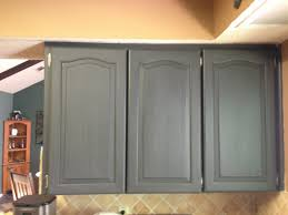 image of simple chalk painted kitchen cabinets