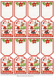 Folding Gift Tags 8 Santa With Gifts Christmas Folding Gift Tags Dear Santa