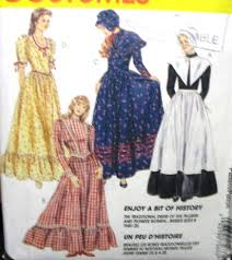 pioneer woman clothing. 7563 pioneer pilgrim dress,apron,bonnet,shawl pattern 16-20 pioneer woman clothing
