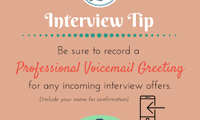 Interview Tip Interview Tip Voicemail Resume Lezlie
