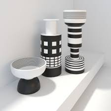 bitossi modern vases black and white decor d model max obj fbx mtl