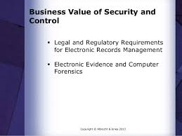 business value of security and control jpg cb  business value of security and control  legal and regulatory requirements for electronic records management 
