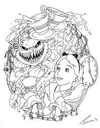 Alice In Wonderland Tattoo Flash By Acidic055deviantartcom On