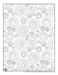 Secondly, coloring for kids it is not only filling with colors finished. Stress Relieving Pattern Coloring Sheets Woo Jr Kids Activities