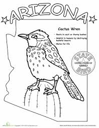 Small Picture Learn facts about Arizona with this fun coloring page Free