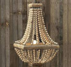 small wood bead chandelier wood beaded chandelier antique farmhouse pertaining to bead decor 7 small wooden