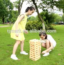 Lawn Game With Wooden Blocks Lawn Game 100pcs Tumble Tower Wooden Giant Tumbling Block Buy 71