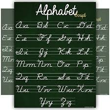 Online Cursive Chart Abc Cursive Script Alphabet Poster Size Small Chart Laminated Teaching Classroom Decoration Young N Refined 16x20