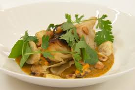 Aaron's braised hispi cabbage with mussels, hazelnuts and a Bombay potato  sauce on Masterchef The Professionals 2020 - Sharingboost